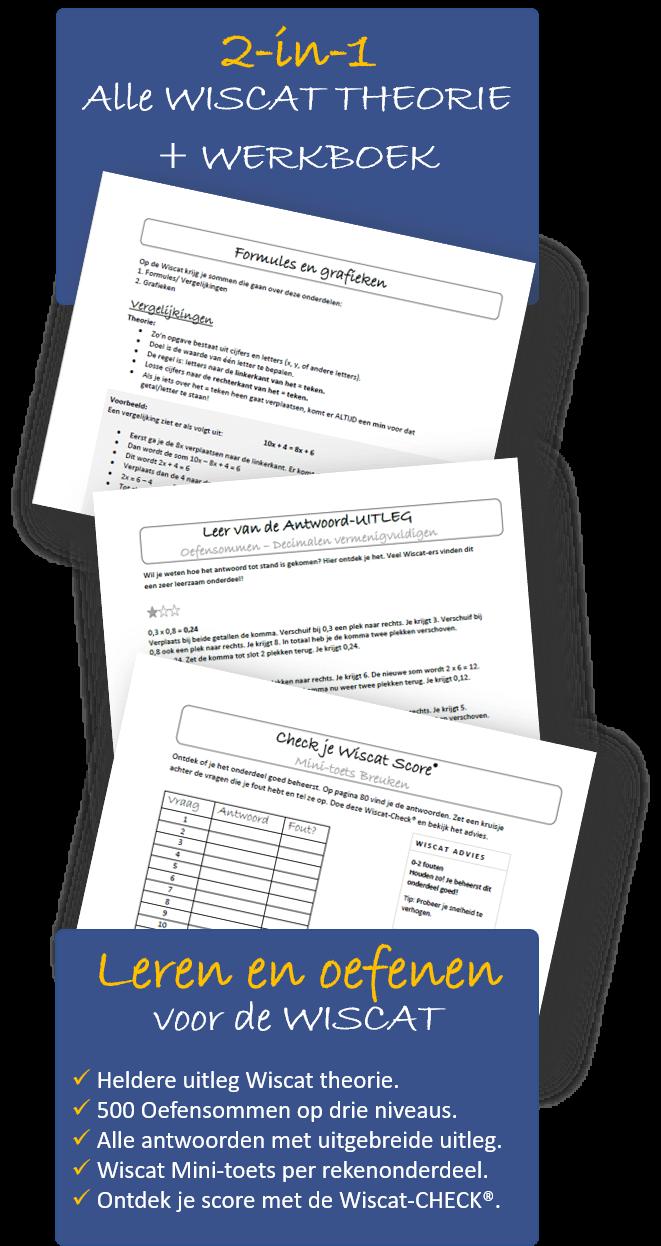 Wiscat werkboek en wiscat theorieboek 2-in-1
