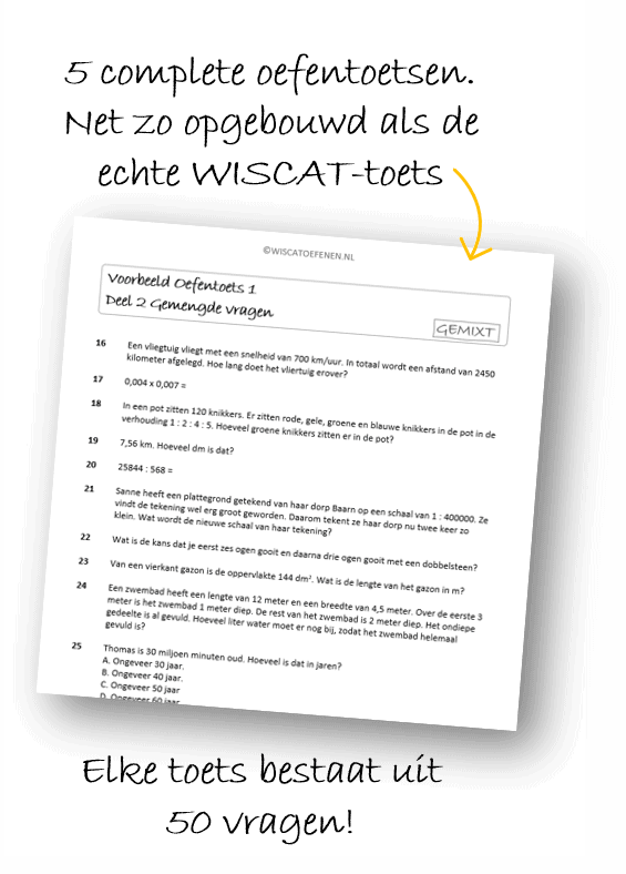 Wiscat toets 50 vragen