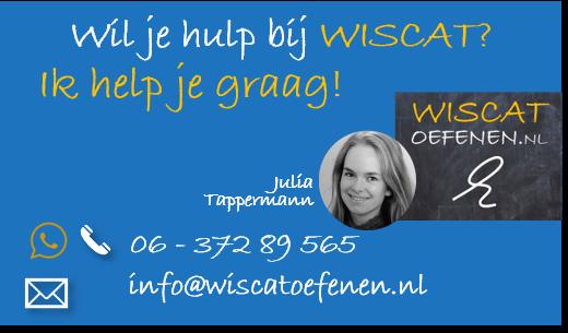 hulp bij wiscat